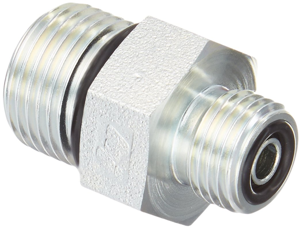 Straight Adapter 4 Units Brennan 1-1//4 in Male O-Ring Boss x 1 in Male Flat Face O-Ring Steel