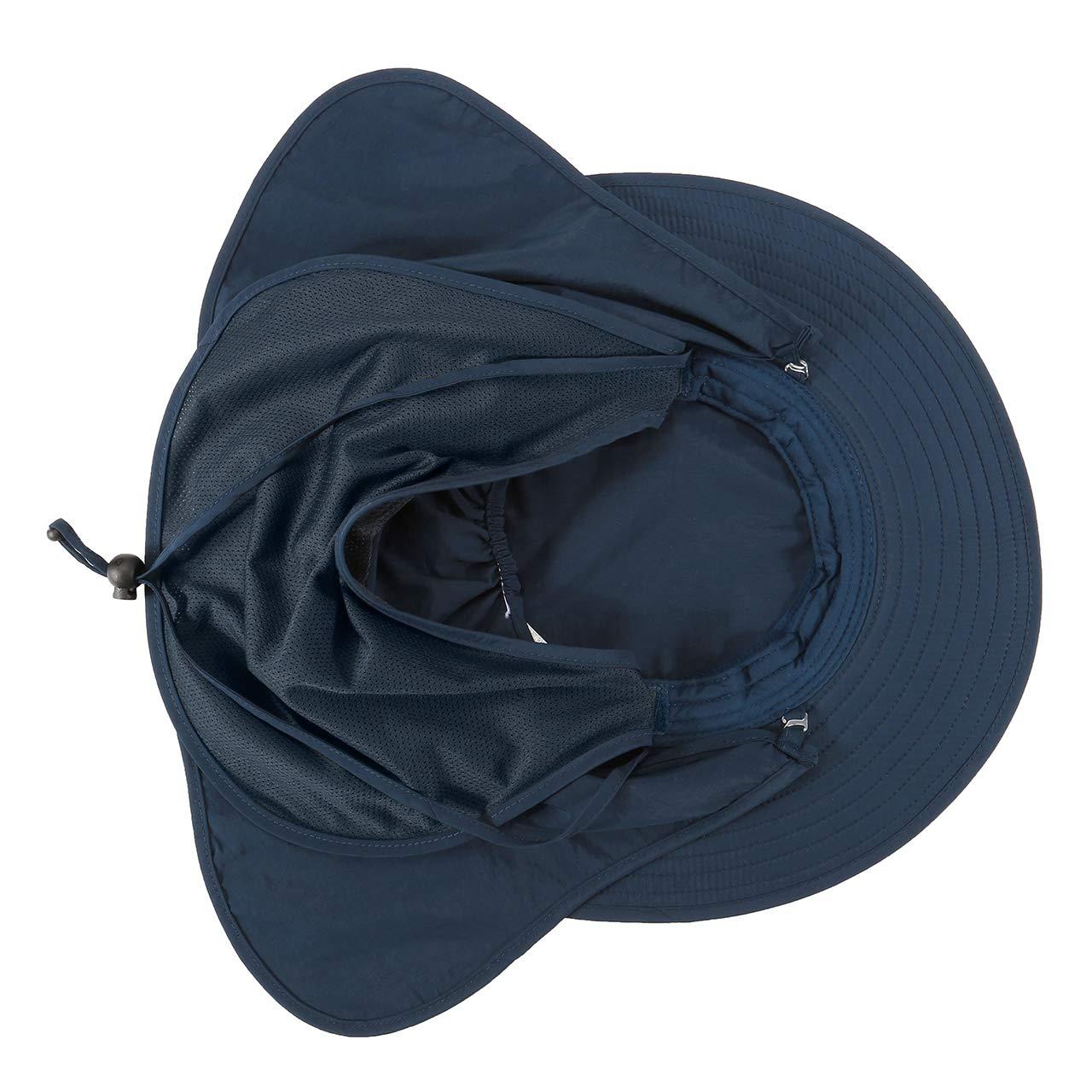 UV Schutz Faltbar Buschhut Anglerhut Fischerh/üte Safari Hut f/ür Damen Herren Maske Unisex Sonnenhut Faletony Nackenschutz