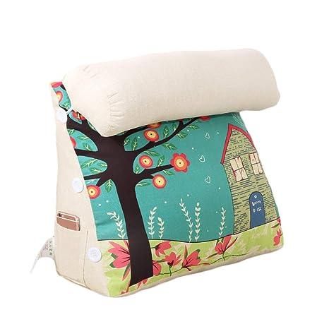 Kaliya Triangle Back Wedge Cushion Bed Bay Sofa Cushion Zipper Extraíble Lavable Respaldo Ajustable Almohada de Lectura