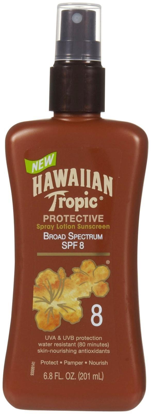 Hawaiian Tropic Protective Tanning Pump Lotion, SPF 8, 6.8 fl oz by Hawaiian Tropic