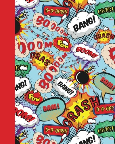 Journal: Comic Speech Bubbles 8x10 - LINED JOURNAL - Journal with lined pages - (Diary, Notebook) (Superheroes & Superstars Lined Journal Series)