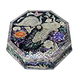 Mother of Pearl Peacock Design Jewelry Box Najeonchilgi Artian Handcrafted Jewellry Case