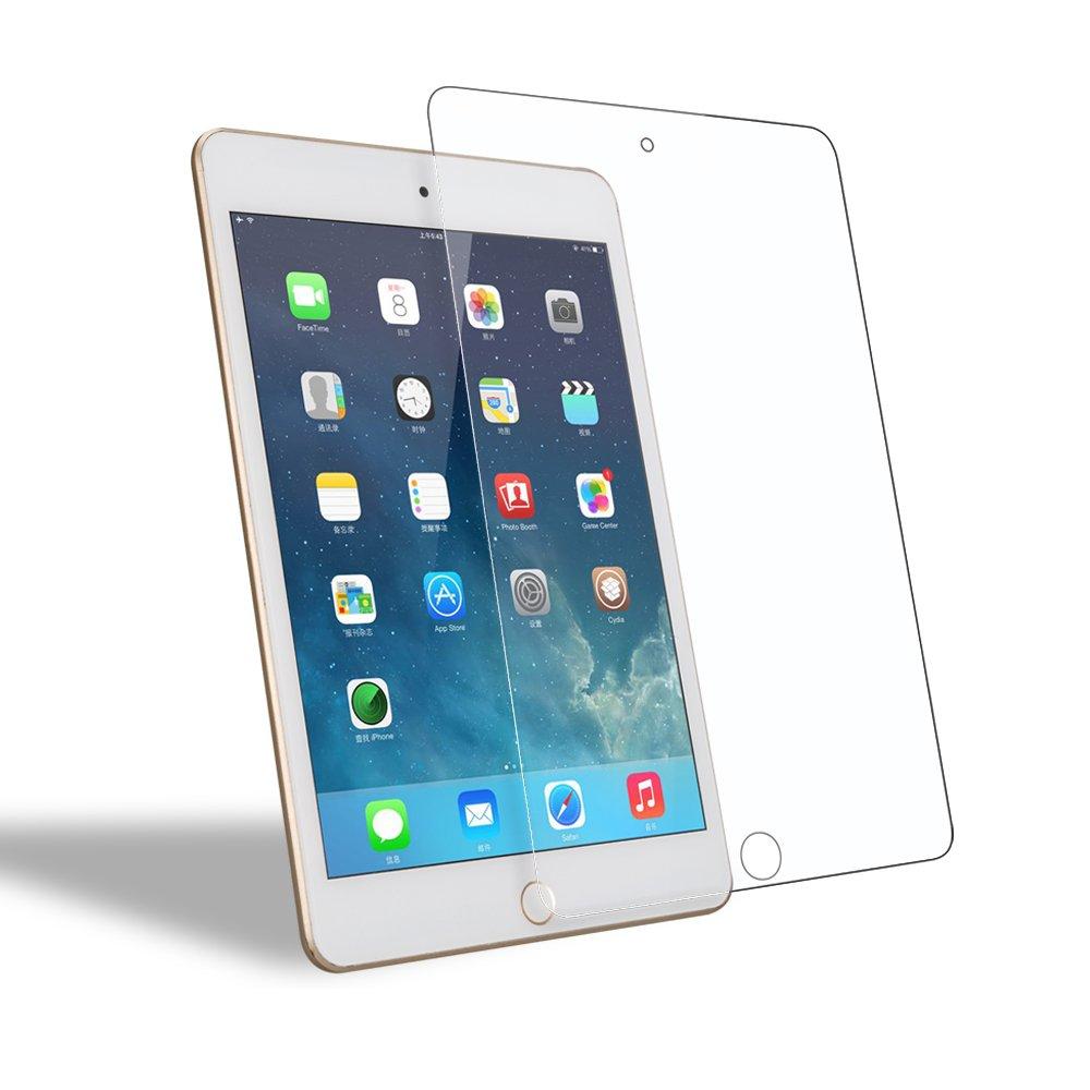 iPad Mini 4 Screen Protector Glass, WEOFUN New Premium Tempered Glass Screen Protector for iPad Mini 4 7.9 inch 2015 Glass [2.5D Round Edge, 0.33mm]