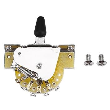 Dilwe Interruptor de Palanca de Guitarra, Palanca de 3 Vías Pastilla de Guitarra Toggle Switch
