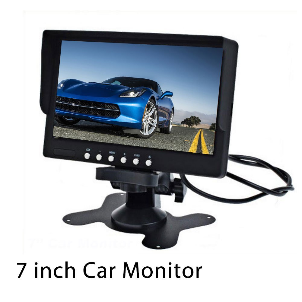7 Inch TFT LCD Car Monitor Screen Rotatable NTSC/PAL Video System for Car Reversing Parking with IR remote control by Pupug (Image #8)