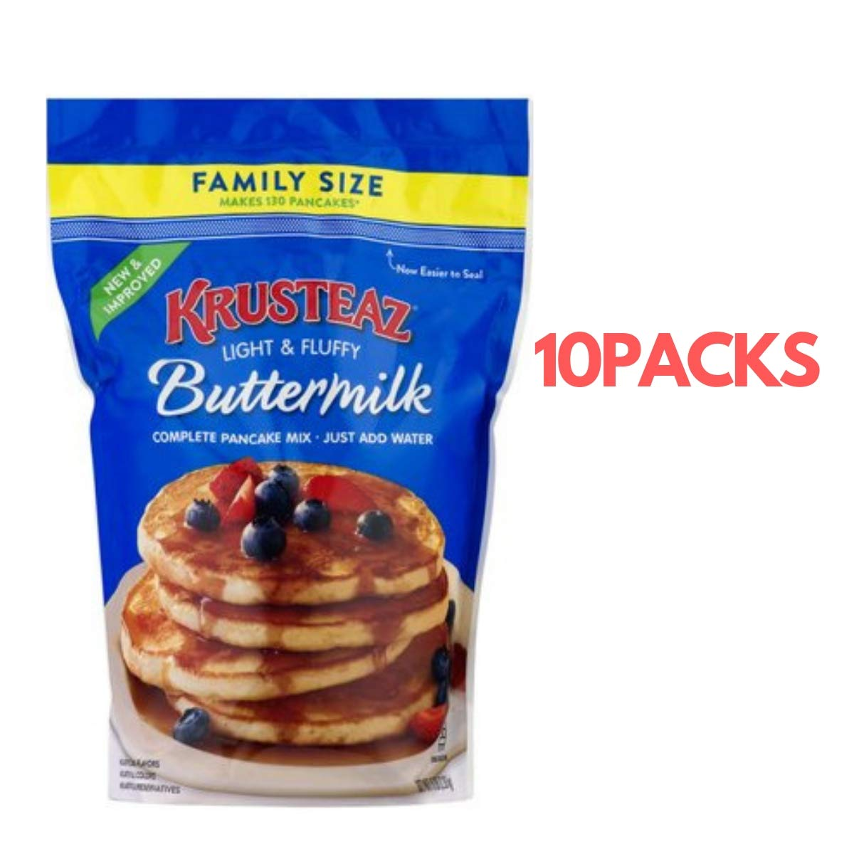 Krusteaz Pancake Mix, Complete, Buttermilk 5 lb (10Pack) by Krusteaz (Image #1)