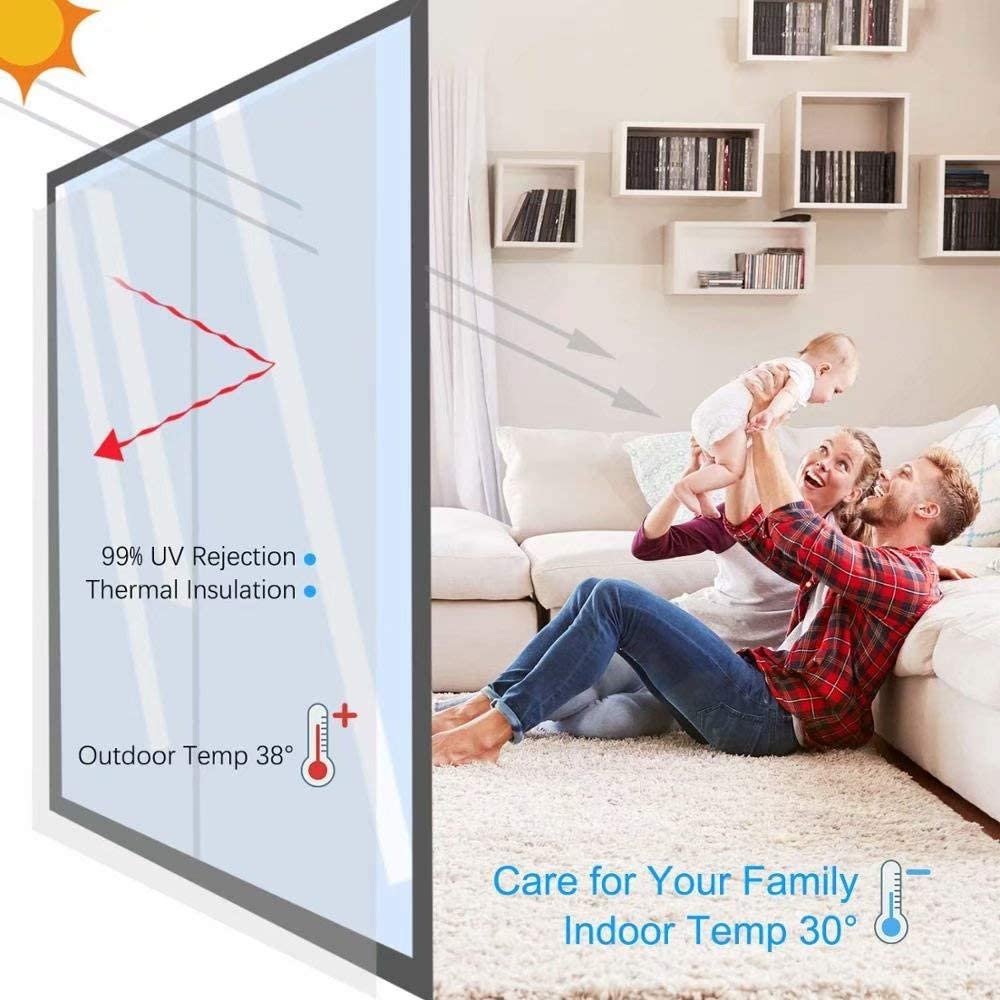3D No Glue Static Decoration Window Film Glass Sticker Frosted Privacy Decorative Window Film Stained Static Cling Adhesive Glass Stickers Vinyl Blackout for Home Multiple W17.7 x L23.6 Inch