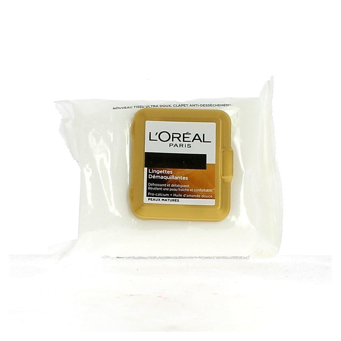 Piel LOreal Paris Age Perfect Toallitas de limpieza paquete 25 maduro: Amazon.es: Belleza