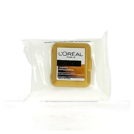 Piel LOreal Paris Age Perfect Toallitas de limpieza paquete 25 maduro