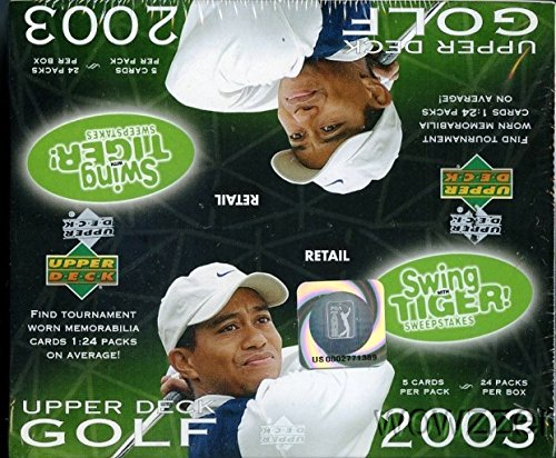 (2003 Upper Deck Golf Huge 24 Pack Factory Sealed Retail Box with 120 Cards)