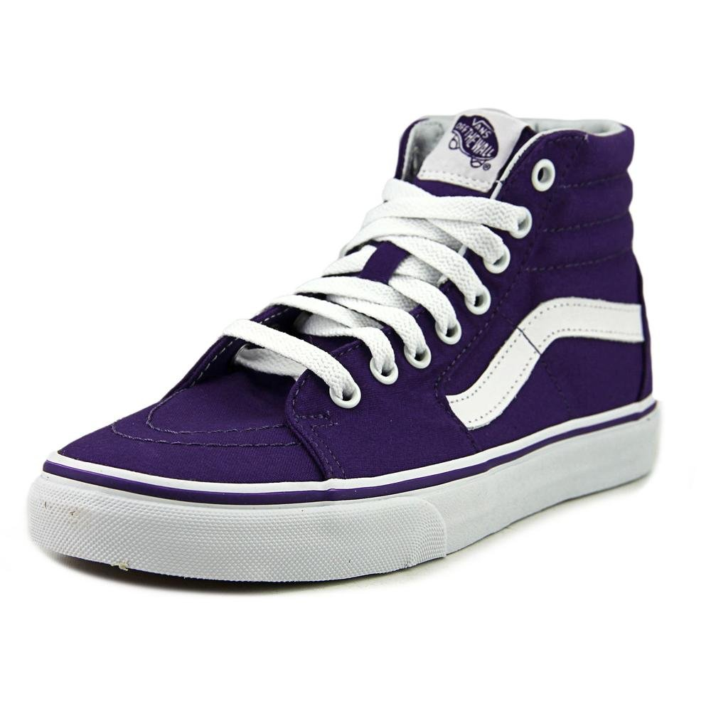 680aa6662b Galleon - Vans Sk8 Hi Womens Size 6 Canvas Imperial Purple True White  Skateboarding Shoes