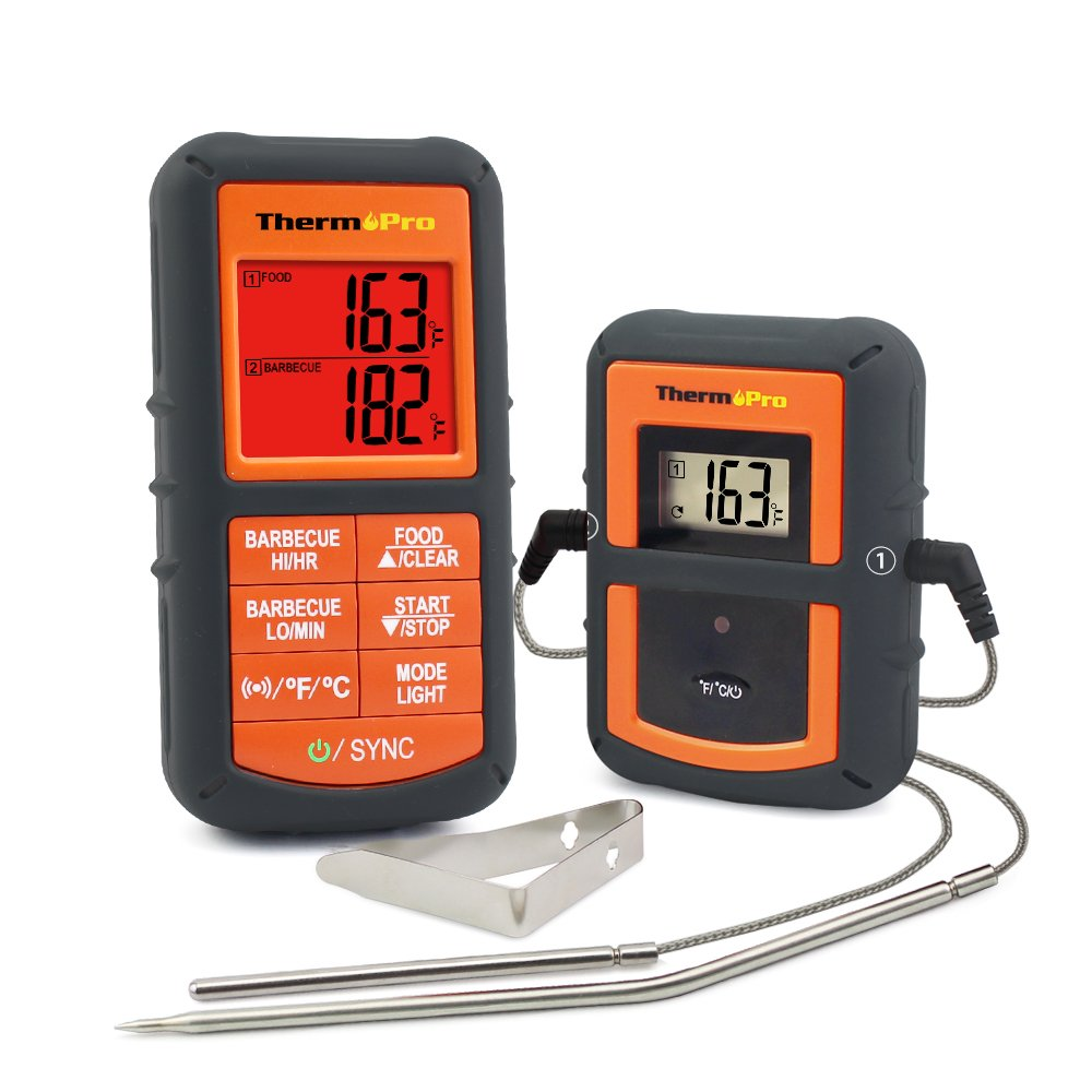 7. ThermoPro TP-08 Wireless Remote Digital Cooking Meat Thermometer Dual Probe