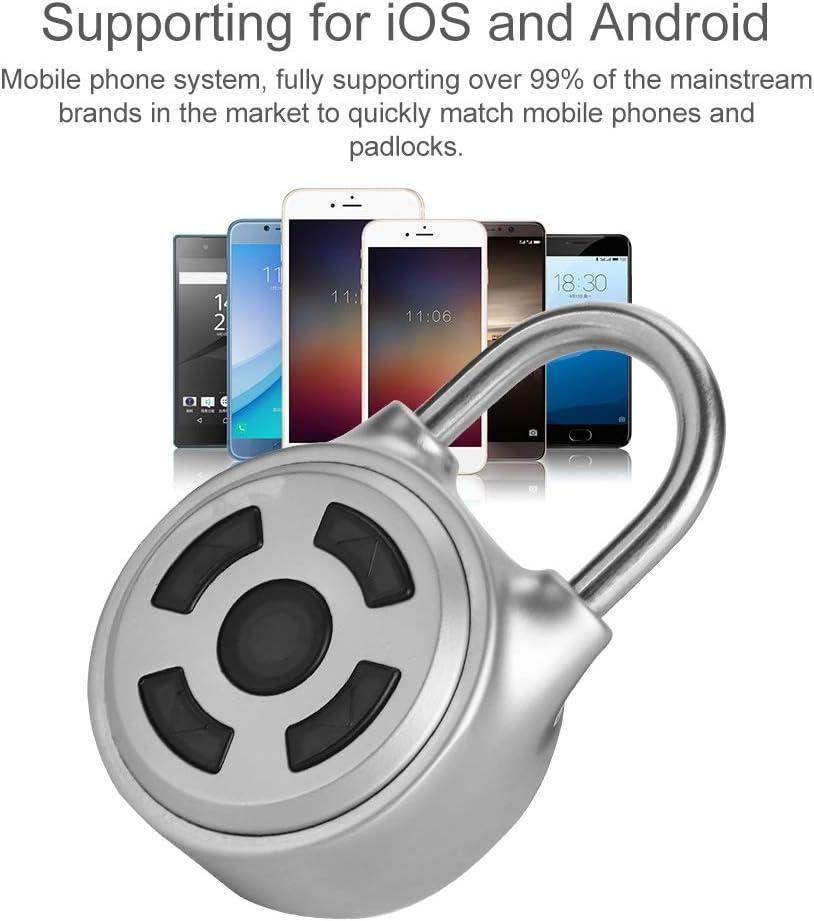 Contrase/ña Clave para gabinete//Maleta//almac/én Candado Bluetooth inal/ámbrico Mini Universal inal/ámbrico inal/ámbrico Cerradura sin Llave Soporte App Control