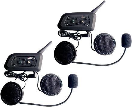 Qsportpeak Vnetphone 2 X V6 Bluetooth Motorrad Intercom Helm Communicator Headset 1200m Reichweite 6 Fahrer Interphone Bedienungsanleitung In Deutsch Auto