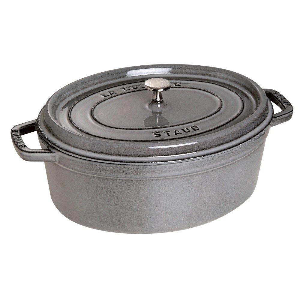 Staub 1103718 Oval Cocotte Oven, 8.5 quart, Graphite Grey