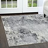 Jersey Area Rug by Christian Siriano and Home Dynamix | Traditional Motifs, Classic Style, Monochromatic Color Scheme | Vintage Look, Distressed Indoor Rug | Resistant and Durable
