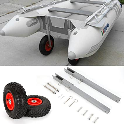 Flipup Boat Launching Wheels for Dinghy//Inflatable//Aluminum//RIB