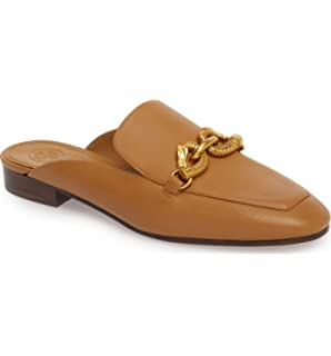 d0bee2ba7bc Tory Burch Women s Deep Vicuna Leather Backless Jessa Loafer Mules