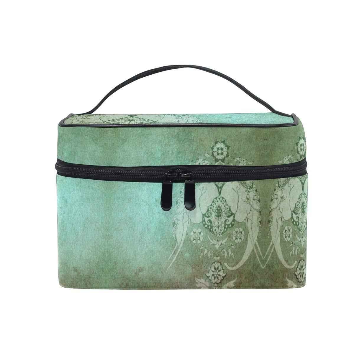 Cosmétiques Valise Beauty Case Elephant Cosmétique Valise Maquillage Marron Turquoise