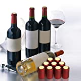 Wine Bottles Heat Shrink Capsules, PVC Shrink Wrap, 30PCS Heat Shrink Tubing Seals with Wine Corks, Heat Sealer Suitable for Professional and Home Use
