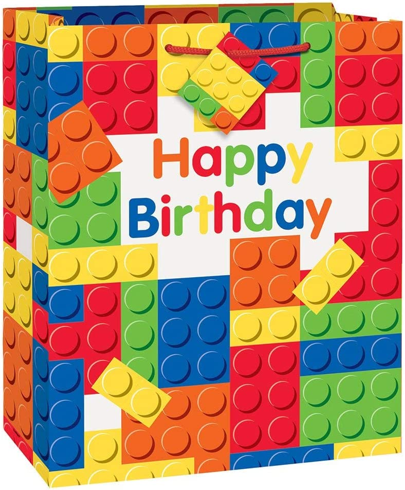 Unique Party 58238 Building Blocks Birthday Party Banner