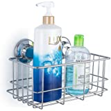 iPEGTOP Strong Suction Cups Deep Bath Shelf Shower Caddy Rust Free Stainless Steel Basket Dishrack for Shampoo Conditioner Bathroom Kitchen Tidy Organizer