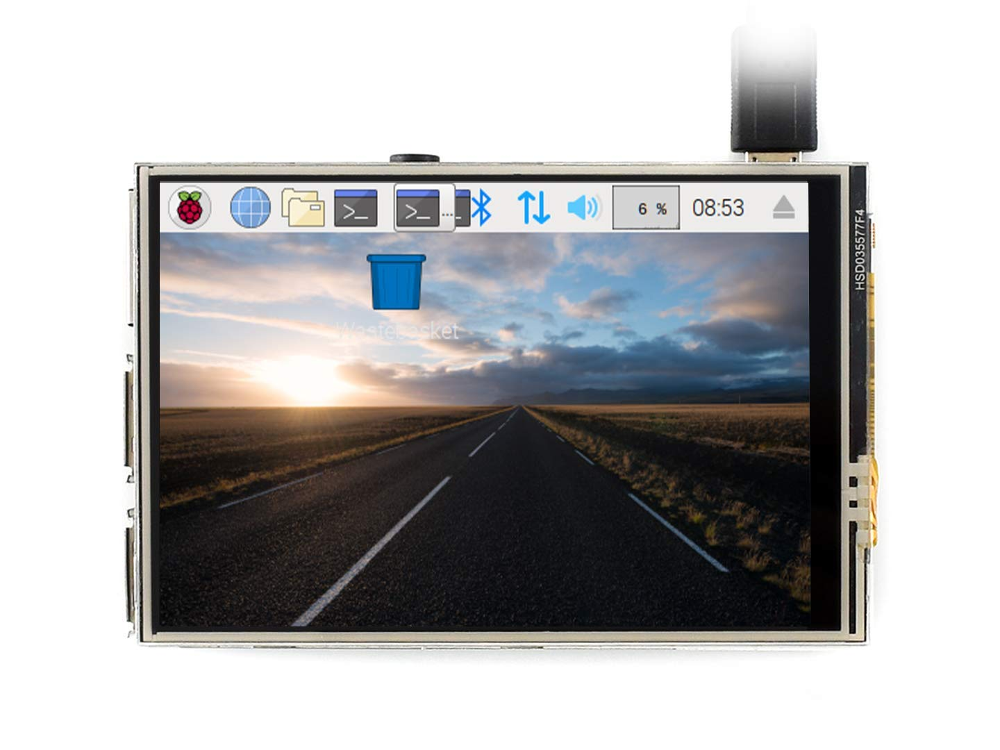 Waveshare 3.5 inch Resistive Touch Screen TFT LCD XPT2046 480x320 125MHz High-Speed SPI Supports FBCP Software Driver for Any Revision of Raspberry Pi (Directly-pluggable)