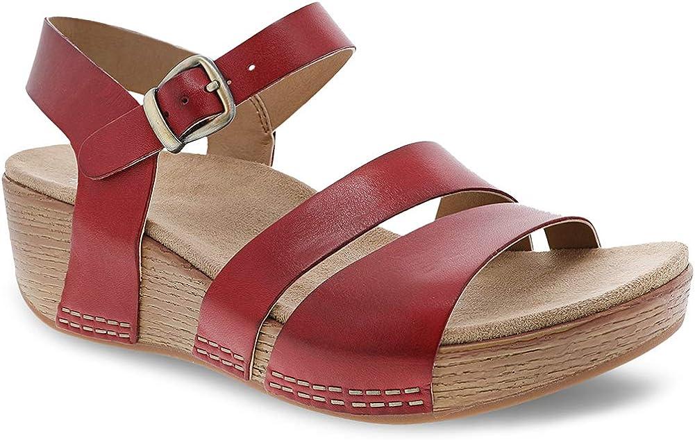 Dansko Womens Lindsay Ankle Strap Sandal