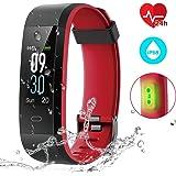 CHEREEKI Fitness Tracker IP68, Pulsera Actividad Inteligente Pantalla Color