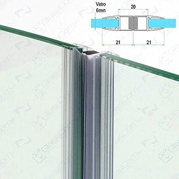 Burlete magnético transparente para mampara de ducha, de 2.20 m, para vidrios de 6 mm (2 unidades): Amazon.es: Bricolaje y herramientas