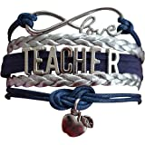 Infinity Collection Teacher Bracelet, Teacher Jewelry, Teacher Gift - Show Your Teacher Appreciation