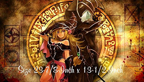 #14 - Yu-gi-oh Dark Magician Girl PLAYMAT, Yu-gi-oh Dark Magician Dark Magician Girl Play mat   Custom Play mat   Size 23-7/8-Inch x 13-1/2-Inch (AArt)