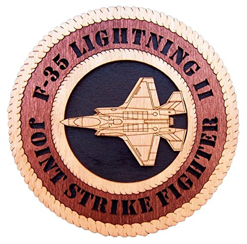 Jsf Strike Fighter - Laser Engraved, Personalized WT606 F-35 Joint Strike Fighter JSF Wall Plaque