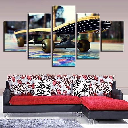 BAWAN Cinco Patines decoración de monopatín Pintura casa Creativa ...