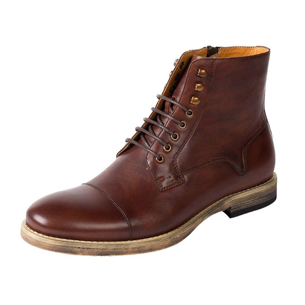LYZGF Herren Vier Jahreszeiten Casual Martin Stiefel Fashion British Jugend Schnürsenkel Lederstiefel
