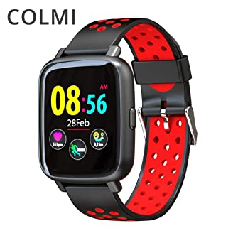 Reloj Inteligente SN12, COLMI SN12 IP68 Monitor de Ritmo cardíaco a Prueba de Agua en Tiempo Real Presión Arterial Reloj Inteligente Natación Bluetooth ...