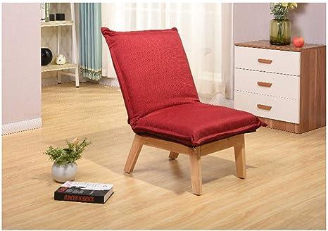 QXX Folding Lazy Sofa Single Fabric Chair Bedroom Window