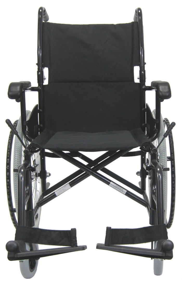 Karman Healthcare LT-980-BK-E Aluminum Ultra Lightweight Wheelchair, Black, 22 Inches Rear Wheels and 18 Inches Seat Width
