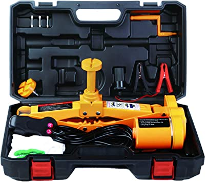 12 Volt Fully Automatic Electric Compact Car Jack Tire Change Easy Lifter New
