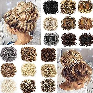 Amazon.com  OMG Short Curly Messy Hair Bun Extensions Updo