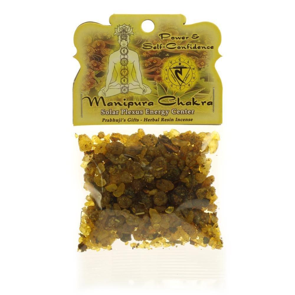 Indian Handicrafts Export Resin Incense Solar Plexus Chakra Manipura - Self-confidence and Transformation - 1.2oz bag