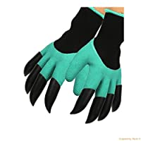 Kayos Garden Gloves with Claws for Digging & Planting - No More Worn Out Fingertips - UNISEX - One Size Fits All