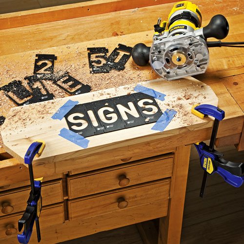 Rockler Interlock Signmaker\'s Templates, State Park Font Kit, 2-1/4 ...