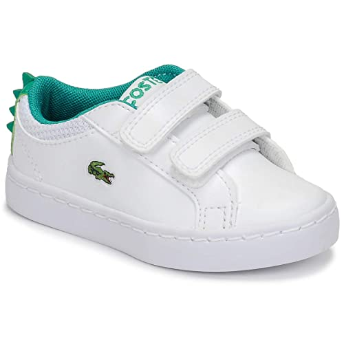 793ee9a3f7a70 Amazon.com | Lacoste Straightset 119 1 White/Green Synthetic Baby ...