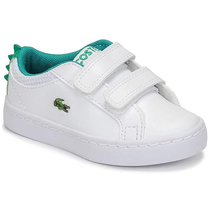 728b50322 Lacoste Straightset 119 1 Blanco Verde Sintético Bebé Entrenadores Zapatos   Amazon.es  Zapatos y complementos