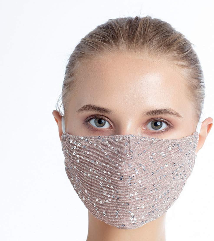 Transpirable moda m/áscara//revestimientos ideal para pubs//clubes//fiestas eBoutik M/áscara facial con lentejuelas brillantes y de calidad premium