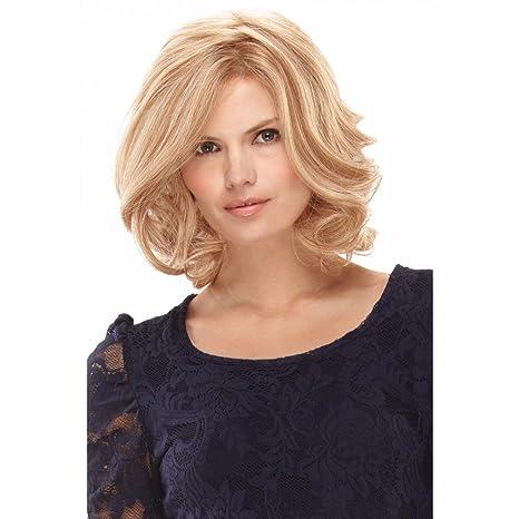 Hombro Largo Rizado Ondulado Fibra Kanekalon Premium peluca de pelo completo peluca cosplay Partido peluca Rubio