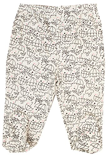 Organic Cotton Baby Pants Footed GOTS Certified Clothes (Stone,18-24m)