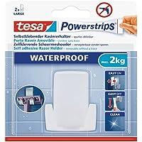 tesa Powerstrips Waterproof Zelfklevende Scheermeshouder Kunststof, draagt tot 2 kg, verwijderbaar