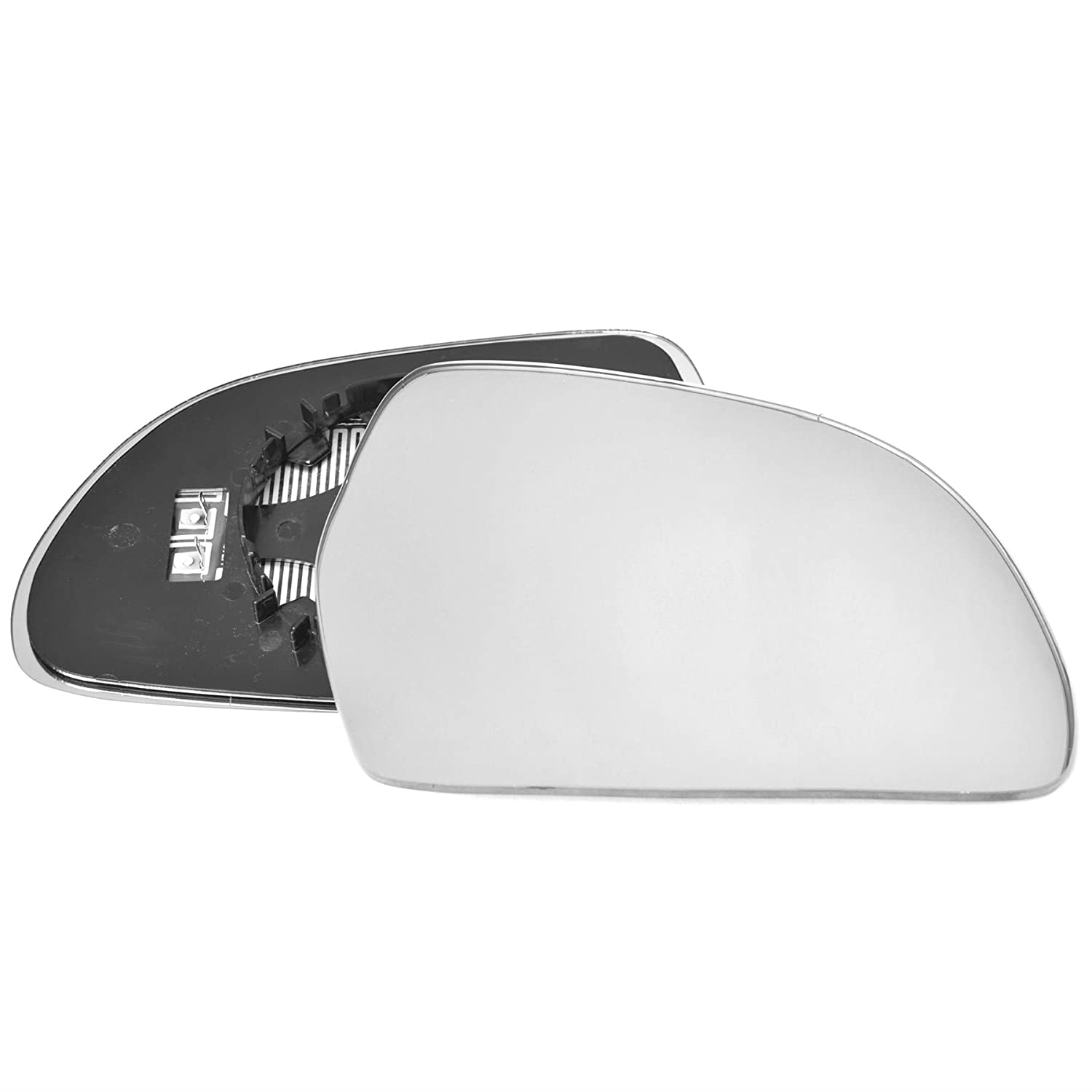 Driver right hand side Heated wing door Silver mirror glass with backing plate #C-SHY/R-AIA308 [Clip On] Sylgab